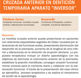 #LecturaRecomedada: Ortopedia Funcional de los maxilares para mordida cruzada anterior