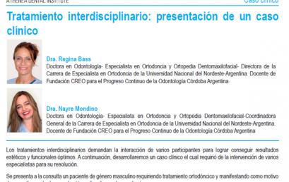 """#LecturaRecomendada – Tratamiento interdisciplinario: presentación de un caso clínico"""""""